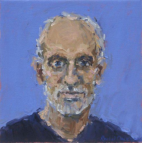 Rachel Clark portrait commissions. Painting in oil on canvas of Chris Haydon