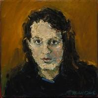 Rachel Clark portrait commissions. Portrait in oil on canvas of Christy Rhys
