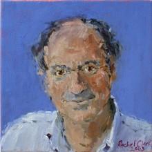 Rachel Clark portrait commissions-portrait painting in oil of Dr Tony Druttman