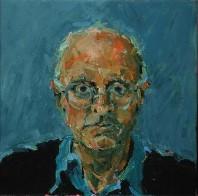 Rachel Clark portrait commissions-portrait painting of Edward Bond 1