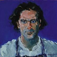 Rachel Clark portrait commissions - portrait painting in oil of Michael Cole