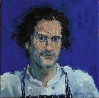 Rachel Clark portrait commissions-portrait painting in oil on canvas of Michael Cole 2