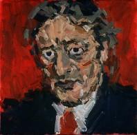 Rachel Clark portrait commissions- portrait painting of Michael Mansfield QC 3