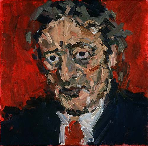 Rachel Clark portrait commissions- portrait painting of Michael Mansfield QC 3