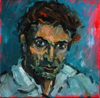 Rachel Clark portrait commissions- portrait painting of Philip Howe