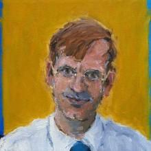 Rachel Clark portrait commissions- detail of the portrait painting 'The Maudsley Portrait'