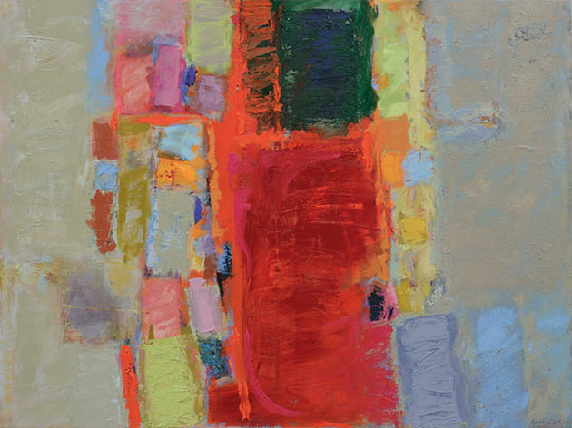Nimrod, abstract painting in oil from the series 'Testament' in the abstract art collection of Valerie Lardie and Francois Barthelemy and on view in the Rachel Clark abstract art gallery