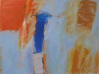 Elijah, an abstract painting in oil from the series Testament on view in the Rachel Clark abstract art gallery