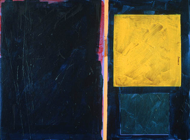 Evening Berberis, an abstract painting in acrylic on view in the Rachel Clark abstract art gallery - abstract art to buy