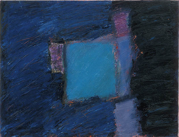 Sacred Text, an abstract painting in oil from the series Testament viewed in the Rachel Clark abstract art gallery