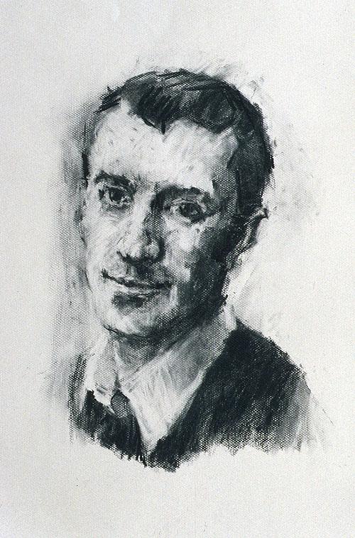Rachel Clark portrait drawing - a study for portrait painting ' The Maudsley Portrait'
