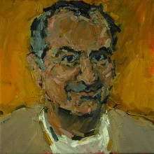 Rachel Clark portrait commissions-portrait painting in oil of Andrew Barrett