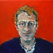 Rachel Clark portrait commissions-portrait painting in oil of Anthony Ward