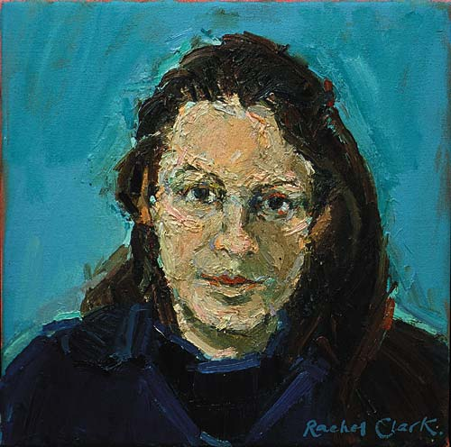 Rachel Clark portrait commissions. Portrait in oil on canvas of Christy Rhys
