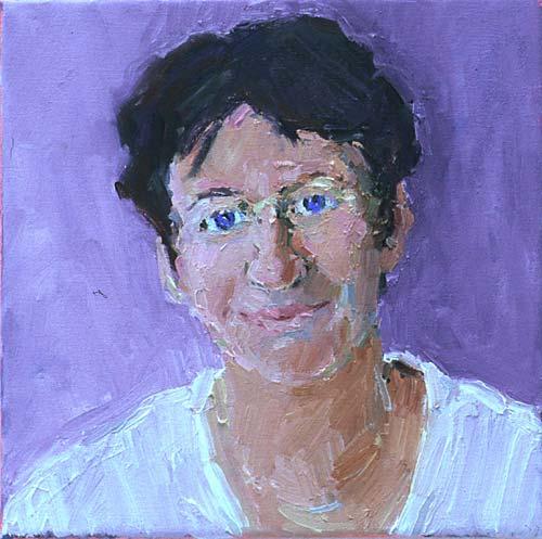 Rachel Clark portrait commissions-portrait painting of Dawn Airy 1