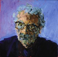 Rachel Clark portrait commissions-portrait painting of Prof. James Lovelock 1
