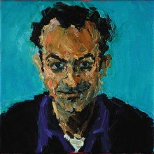 Rachel Clark portrait commissions-portrait painting in oil of Mark Thompson