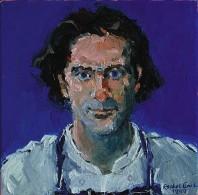 Rachel Clark portrait commissions-portrait painting in oil on canvas of Michael Cole 1