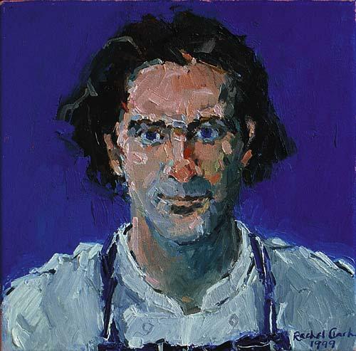 Rachel Clark portrait commissions-portrait painting in oil on canvas of Michael Cole 1