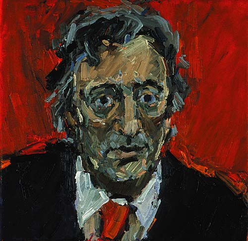 Rachel Clark portrait commissions- portrait painting of Michael Mansfield QC