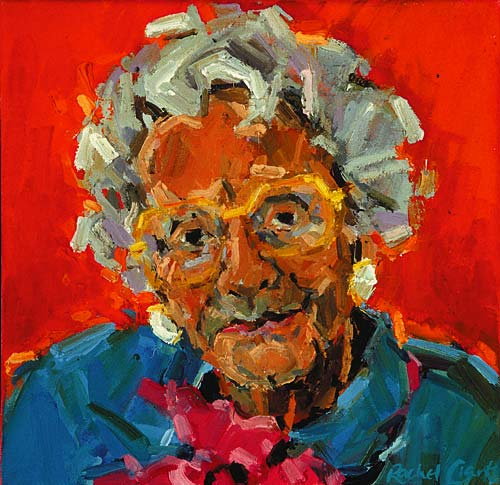 Rachel Clark portrait commissions-portrait painting of Mrs Mary Whitehouse CBE
