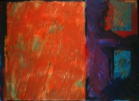 an abstract painting in acrylic viewed in the Rachel Clark abstract art gallery - abstract art to buy