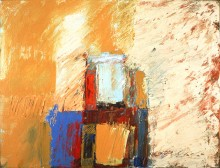 abstract painting from the series 'The Planet Suite' by abstract artist Rachel Clark and in Chris Haydon's contemporary abstract art collection