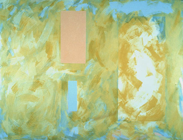 Persephone Spring, an abstract painting in acrylic on view in the Rachel Clark abstract art gallery - abstract art to buy