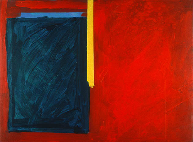 Revelation, an abstract painting in acrylic on view in the Rachel Clark abstract art gallery - abstract art to buy