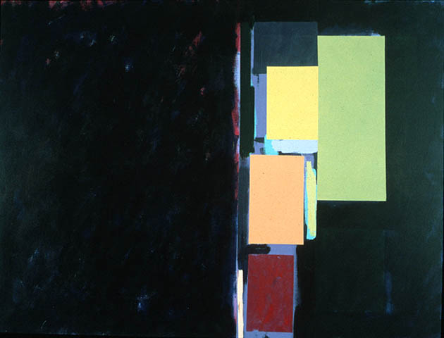 Urban Night, an abstract painting in acrylic on view in the Rachel Clark abstract art gallery - abstract art to buy