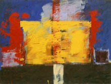 Covenant, abstract painting in oil in the modern abstract art collection of Francois Barthelemy and Valerie Lardy