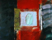 abstract painting in oil from the series The Planet Suite by the abstract artist Rachel Clark in John Veal's contemporary abstract art collection