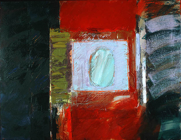 Saturn, an abstract painting in oil in John Veal's modern abstract art collection
