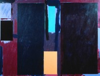 Macbeth, an abstract painting in acrylic on view in the Rachel Clark abstract art gallery - abstract art to buy