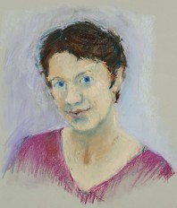 Rachel Clark portrait drawings-Dawn Airey-pastel on paper