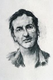Rachel Clark study for the portrait commission ' The Maudsley Portrait- portrait drawing charcoal on paper