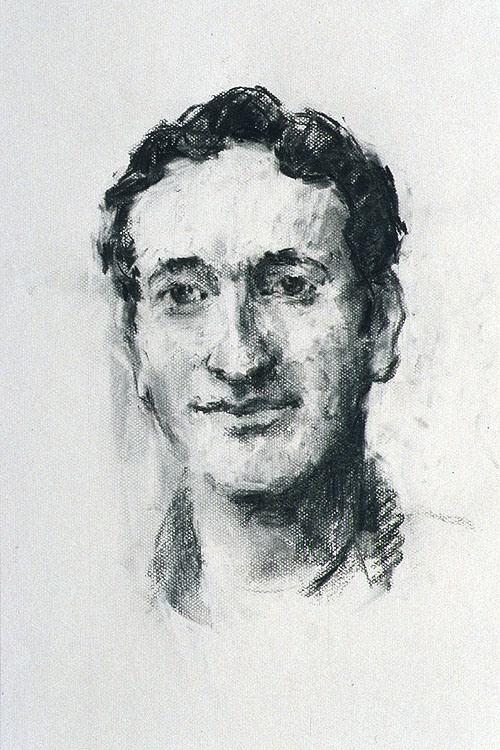 Rachel Clark portrait drawing study for 'The Maudsley Portrait'- charcoal on paper