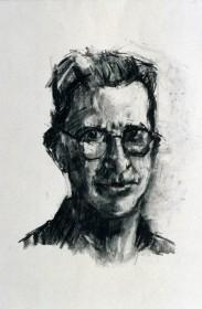 Rachel Clark portrait drawing study for the portrait commission 'The Maudsley Portrait'