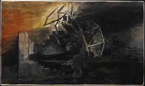 Sutherland - The City; A Fallen Lift Shaft